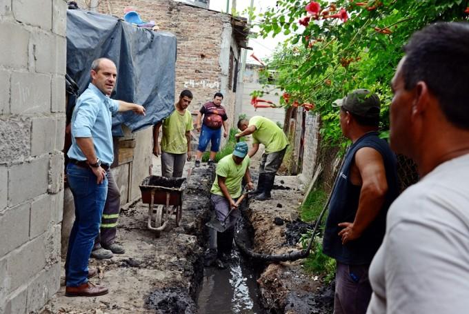El Municipio lleva a cabo trabajos de mejoramiento en el barrio San Jorge