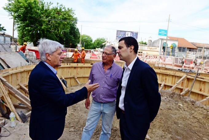 Luis Andreotti supervisó las obras del túnel de la Ruta N° 202