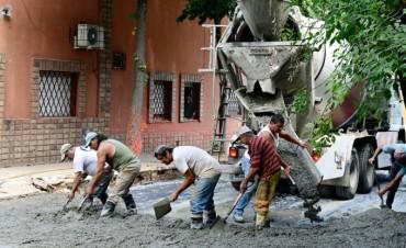 El Municipio de San Fernando repavimentó parte de la calle Belgrano