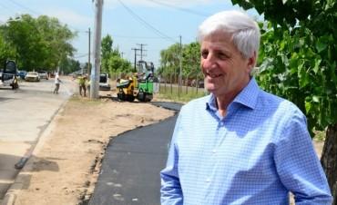 Luis Andreotti supervisó obras en un nuevo espacio verde del barrio Aviación de San Fernando