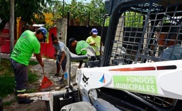 San Fernando realiza profundos trabajos de limpieza en los barrios con su flota municipal