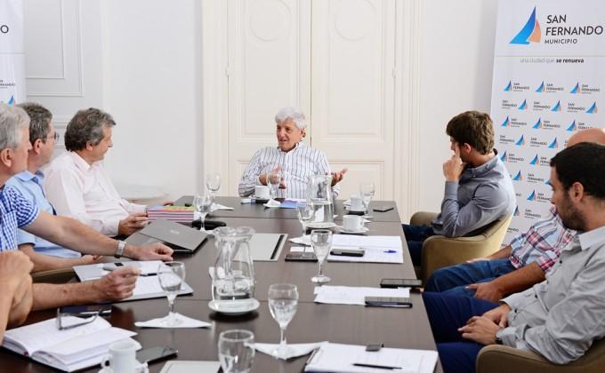 Andreotti recibió a autoridades de EDENOR
