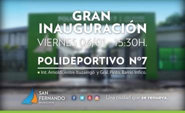 Gran inauguración del Poli N° 7 de San Fernando