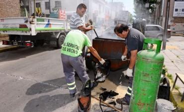 San Fernando realiza trabajos preventivos de tomado de juntas en todo el distrito