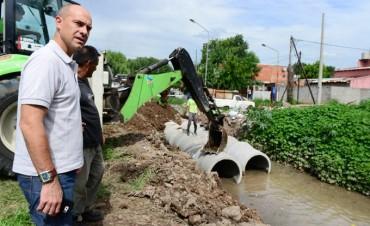 Avanza importante obra hidráulica donde se construirá  el Poli N°9 de San Fernando