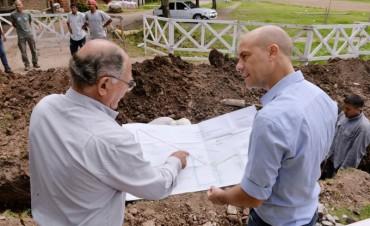 El Municipio construye el sistema hidráulico del barrio San Martín