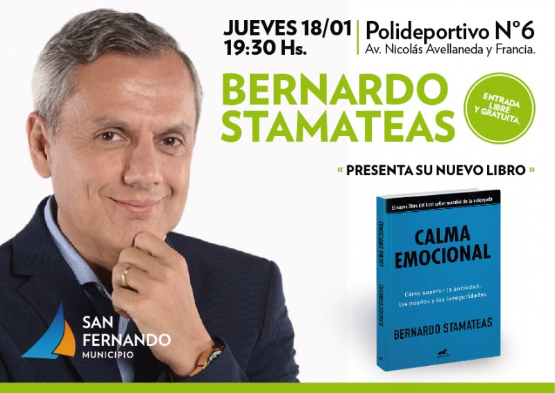 Stamateas presenta su libro Calma Emocional en el Poli N° 6 de San Fernando