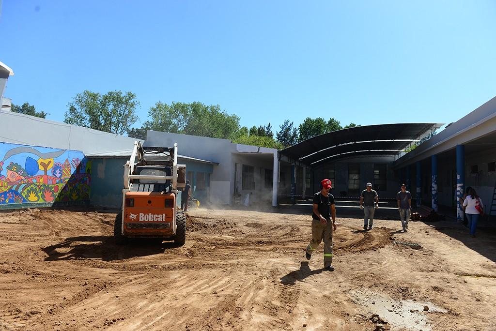 Avanza la renovación de la Escuela N°21 que encara el Municipio de San Fernando