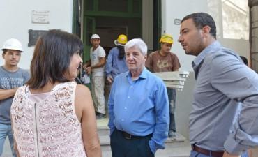 Andreotti supervisó las obras en la bicentenaria Escuela Provincial N° 1
