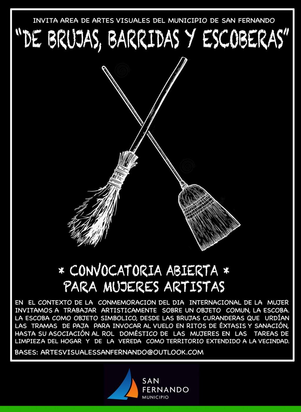 """Convocatoria abierta a participar de la muestra """"De brujas, barridas y escoberas"""""""