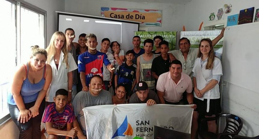 Los chicos del Centro Convivencial Terapéutico de San Fernando participaron de un Taller de Salud Sexual