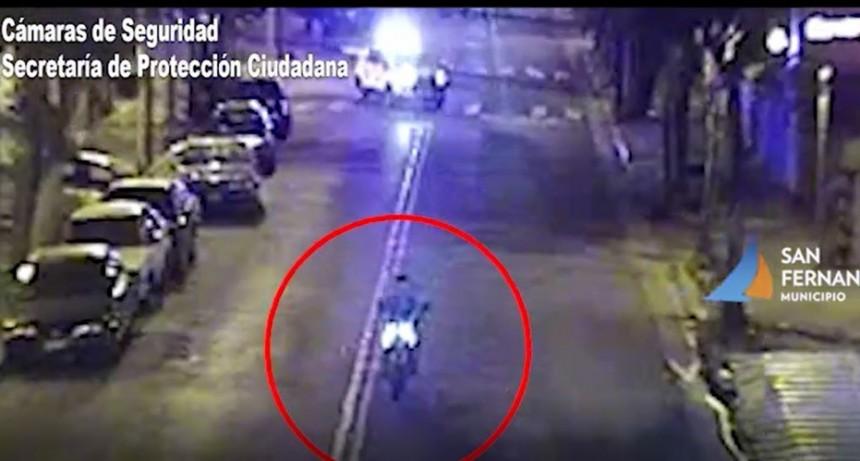 Tras gran persecución, motociclista fue detenido por las Patrullas Municipales de San Fernando