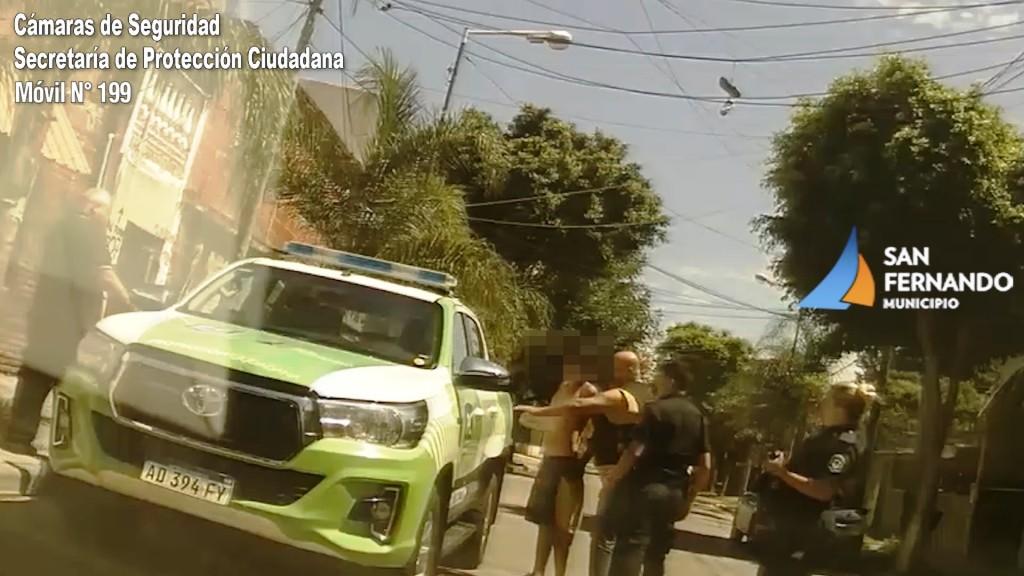 Las Cámaras y Patrullas de San Fernando detuvieron a un ladrón de bicicletas