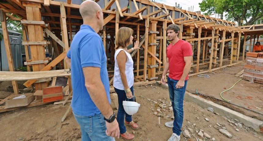 Juan Andreotti supervisó el avance de la construcción a nuevo del Jardín N° 909