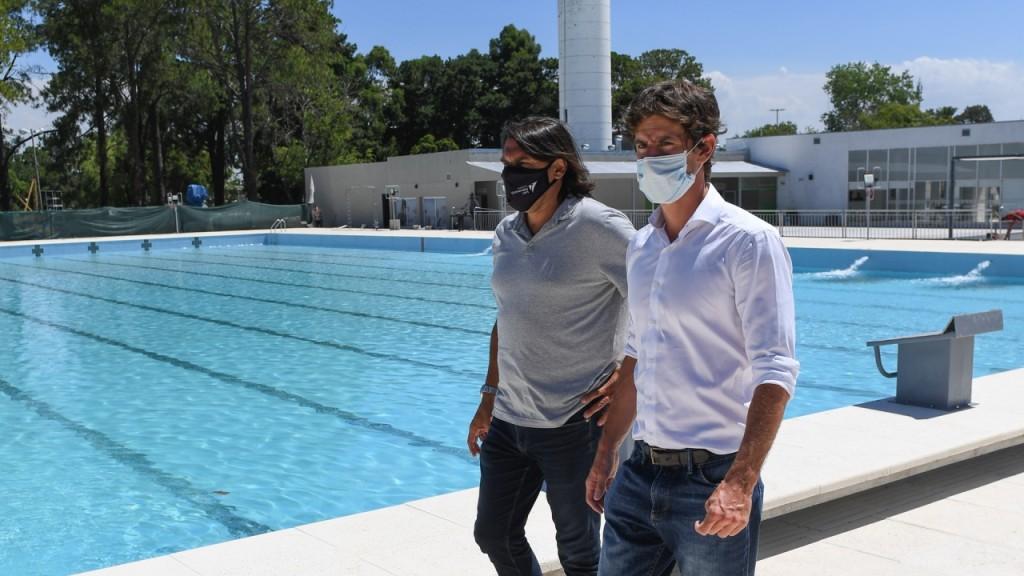 Juan Andreotti presentó la nueva Pileta Olímpica del Polideportivo N°3