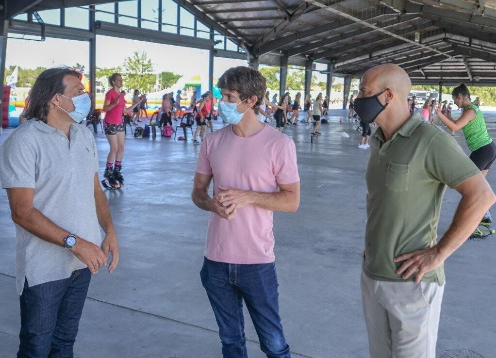 Juan Andreotti compartió un evento familiar de juegos, deportes y kartings en el Parque Náutico