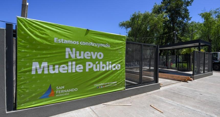 Juan Andreotti visitó el nuevo Muelle Público Municipal en su última etapa de obra