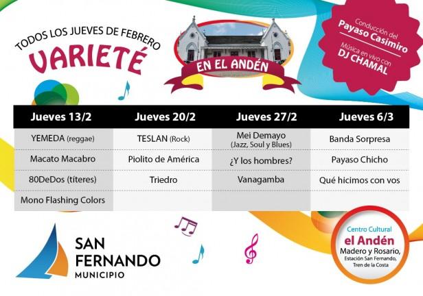 Jueves de Varieté en el Centro Cultural el Andén