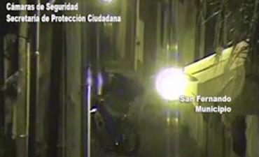 Intentó robar una moto, pero fue detenido por las patrullas municipales y las cámaras de seguridad de San Fernando