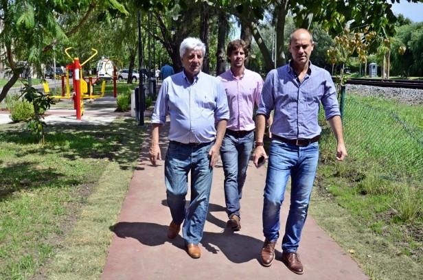 Luis Andreotti  recorrió el nuevo Corredor Aeróbico de la calle Arias