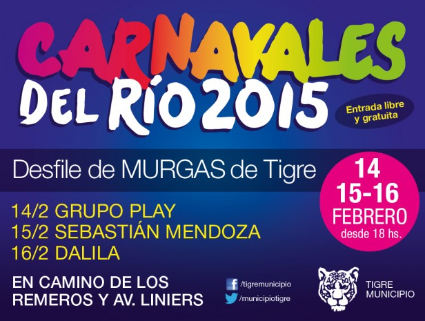 El Carnaval del Río se vive en Tigre