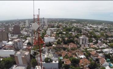 El Municipio de San Fernando instaló una antena de 72 metros para ampliar su red de Cámaras de Seguridad