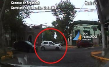 Robó en Tres de Febrero, se tiroteó en San Martín y lo atraparon Patrullas Municipales de San Fernando