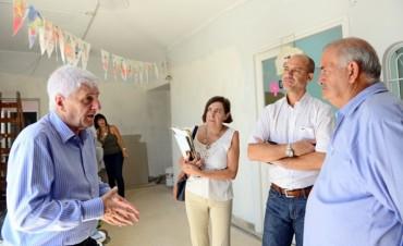 Andreotti supervisó las obras de refacción del Jardín Provincial Nº 902