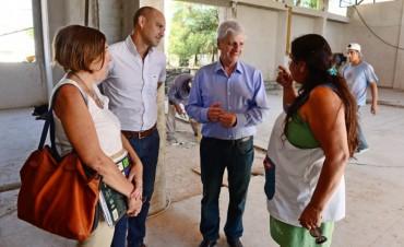 Andreotti supervisó la reconstrucción de la Escuela N° 5 de San Fernando, incendiada en 2013