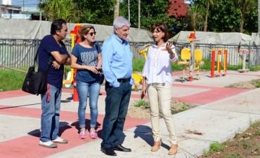 Andreotti supervisó la obra de la nueva Plaza Virgen de Luján