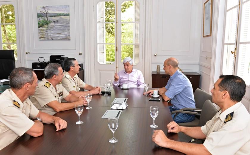 Luis Andreotti se reunió con miembros de la Prefectura Naval