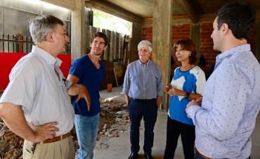 Andreotti vio el avance del nuevo edificio de Salud y Medio Ambiente de San Fernando