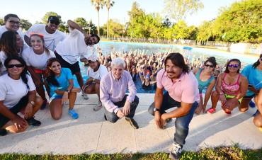 Cientos de sanfernandinas disfrutaron las Masterclass de Aquagym y Zumba en los Polideportivos