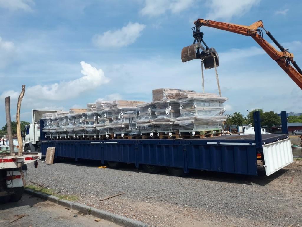 San Fernando trasladó 40 camas y mobiliario nuevas al Hospital de Islas Dr. Do Porto