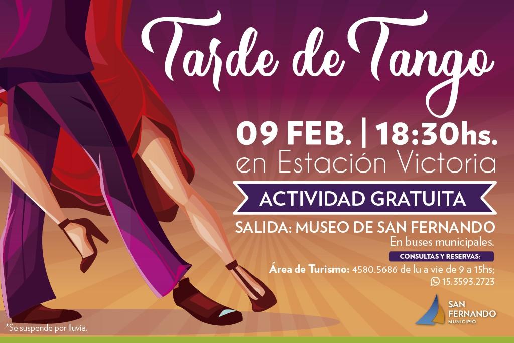 Se viene una 'Tarde de Tango' en la Estación Victoria de San Fernando