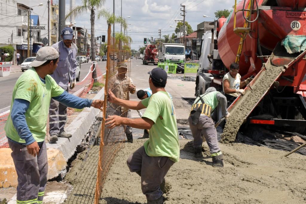 Avanza la renovación de la Av. Avellaneda