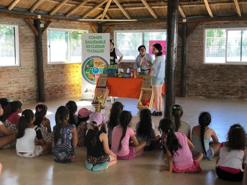 En las Colonias de Verano de San Fernando los chicos aprenden hábitos alimentarios saludables