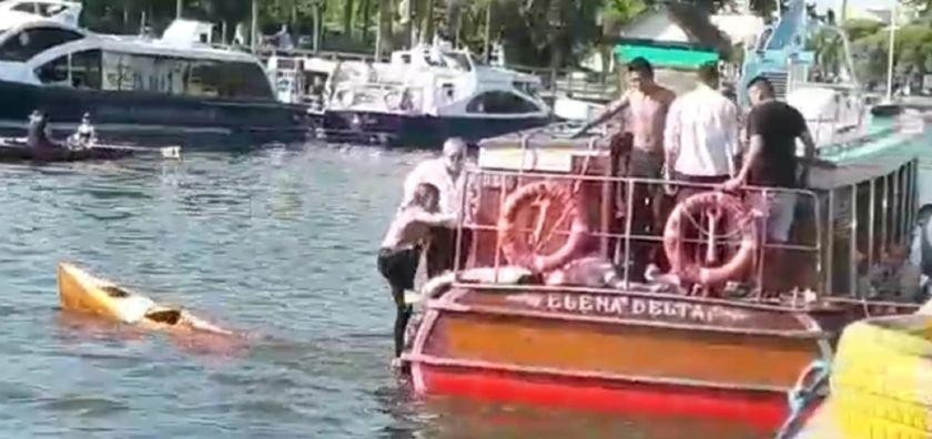 En Tigre una lancha chocó contra un kayak y casi mueren dos personas