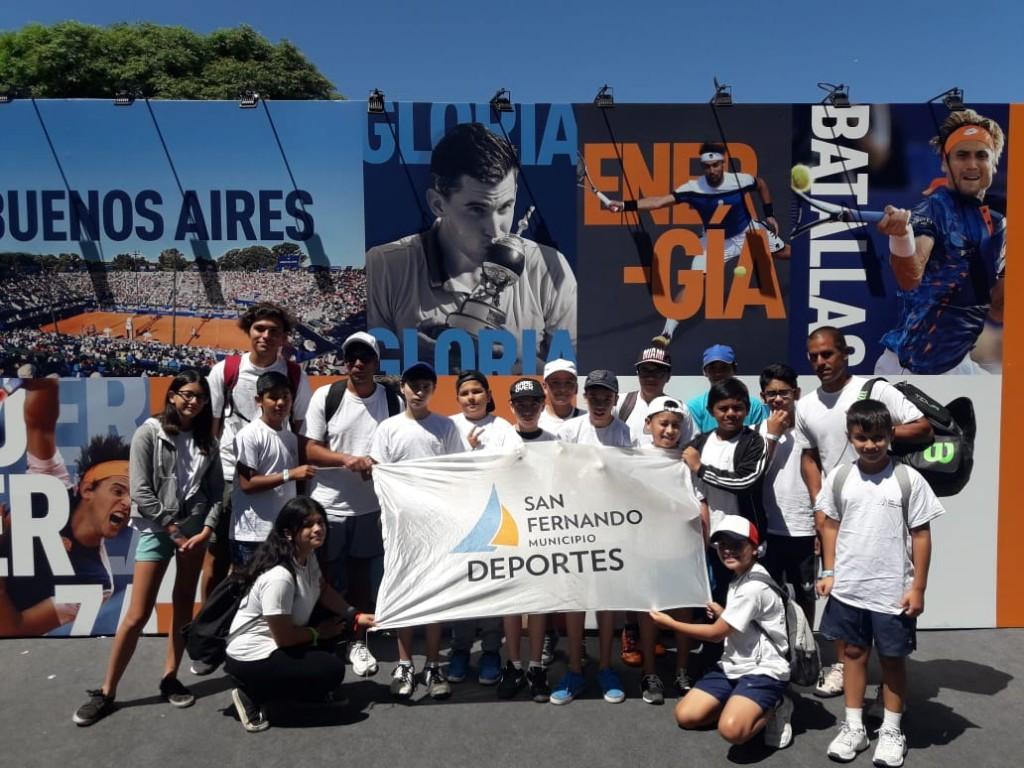 La Escuela Municipal de Tenis de San Fernando presenció el ATP de Buenos Aires