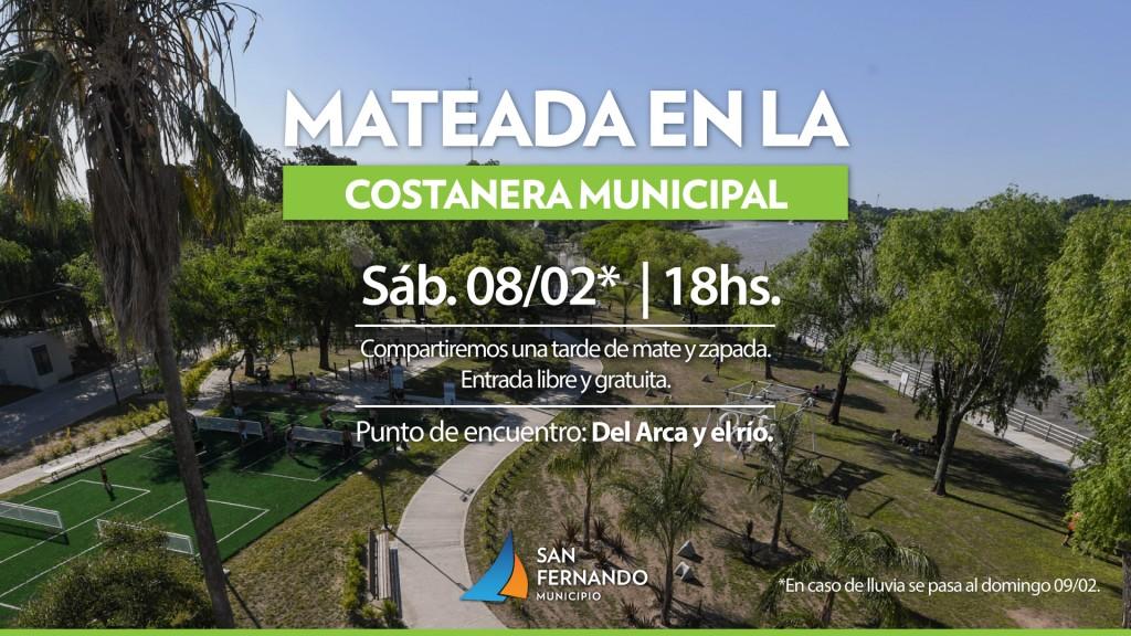 Este sábado, San Fernando tendrá una mateada y actividades culturales en la Costanera