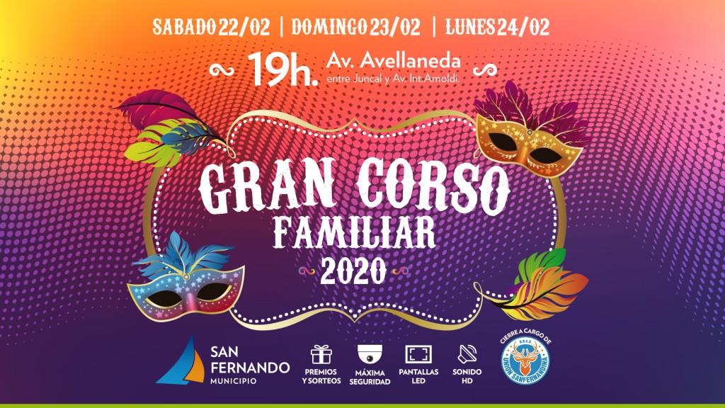 Del 22 al 24 de febrero San Fernando disfrutará el Gran Corso Familiar, el mejor carnaval de la Provincia