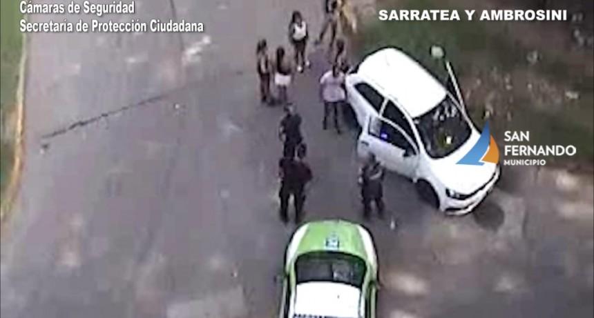 Las Cámaras de San Fernando permitieron detener al conductor de un vehículo con pedido de captura