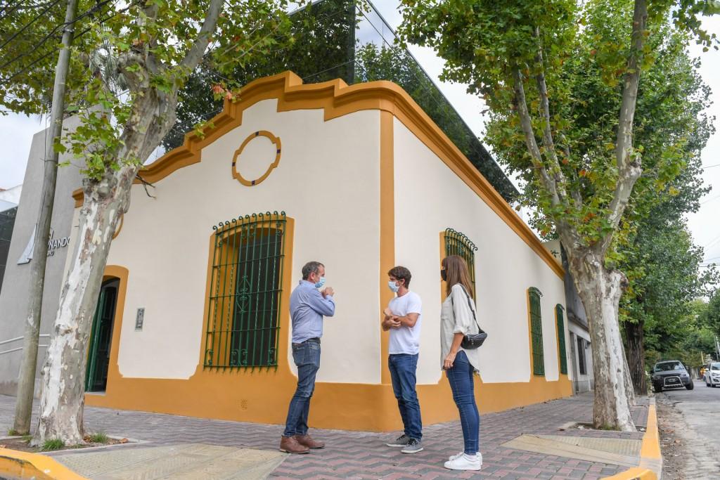 Juan Andreotti supervisó los últimos detalles de la obra de ampliación del Hospital Oftalmológico Municipal