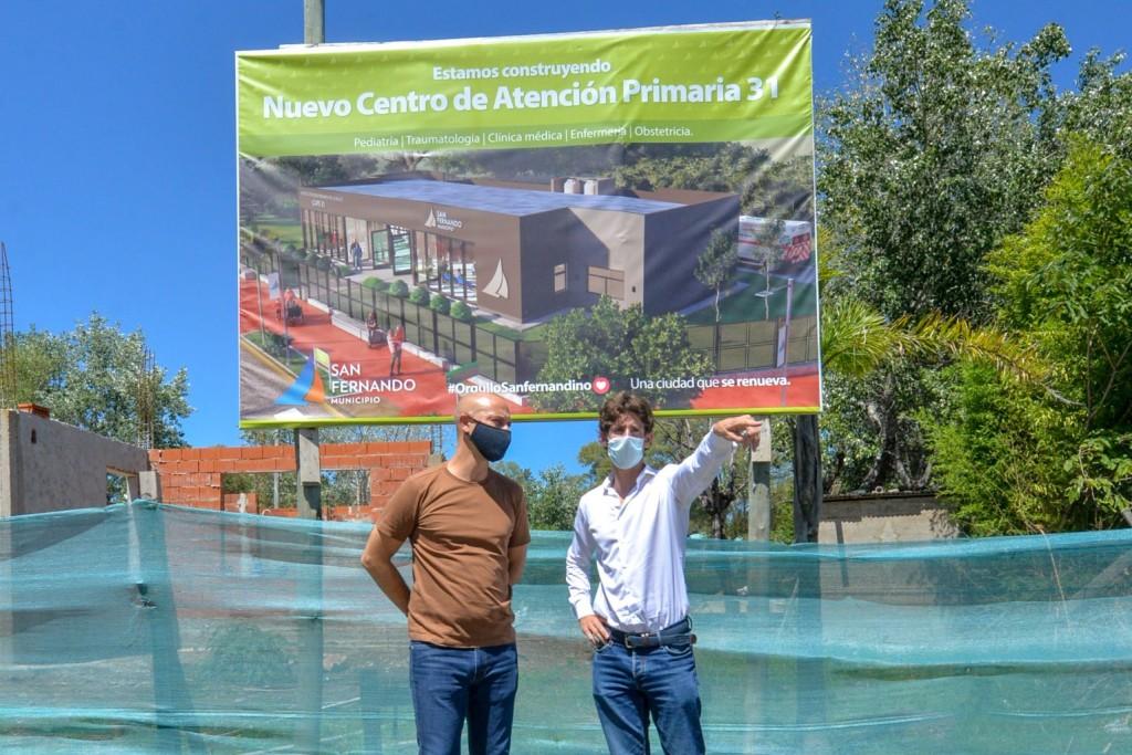 Juan Andreotti recorrió la obra del nuevo Centro de Salud 31 de San Fernando