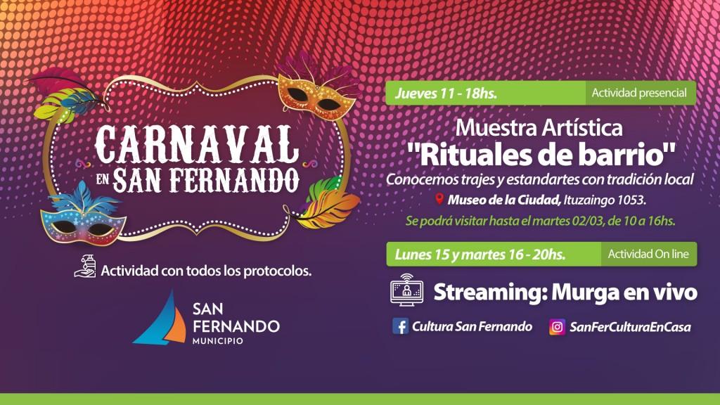 El Municipio ofrece propuestas culturales para disfrutar el fin de semana de carnaval en San Fernando