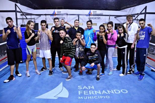 Comenzaron las clases en la Escuela de Boxeo de San Fernando