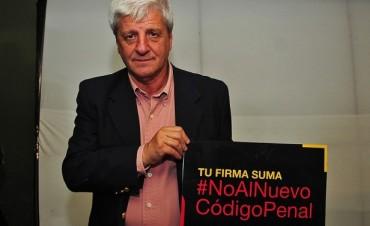 Luis Andreotti se sumó a la campaña No Al Nuevo Codigo Penal