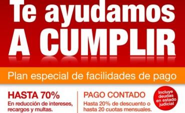 Plan de descuentos y cuotas para el pago de tasas en Tigre