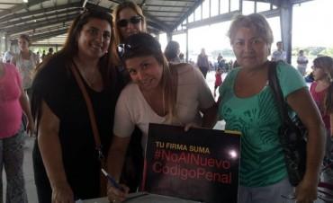 En el primer fin de semanaMás de 3 mil sanfernandinos firmaron contra la reforma del Código Penal