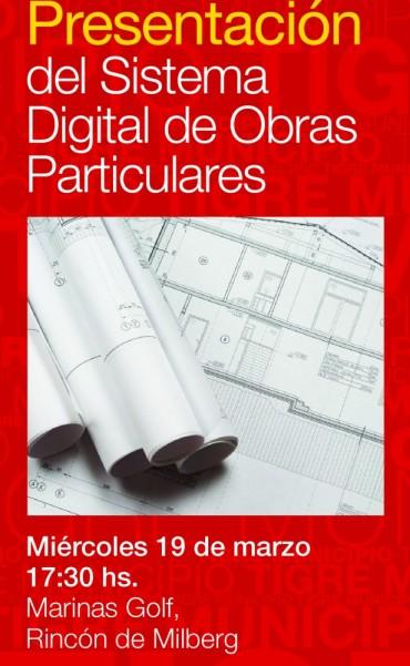 Presentación del Sistema Digital de Obras Particulares